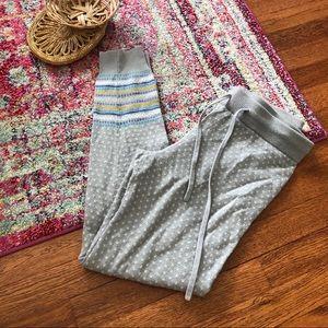 Aerie Gray fair isle sweater leggings